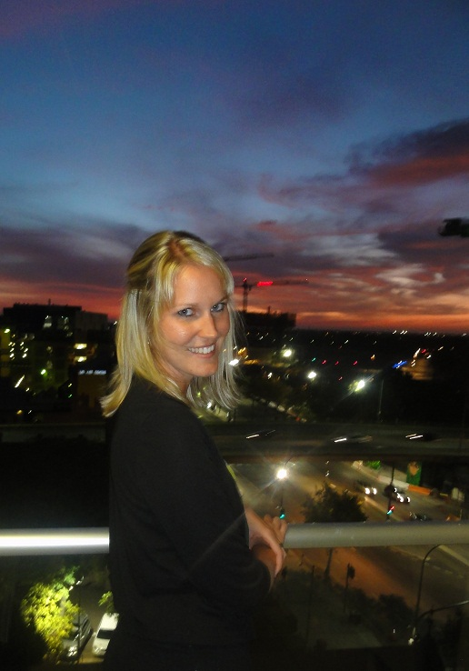 On our balcony in Adelaide