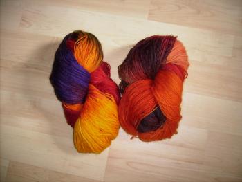 selbstgefärbt Sockenwolle